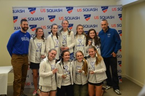 So proud of the Dana Hall School varsity squash team for their second place title in the US Squash Nationals! #GoDragons #SquashCares #Teamwork